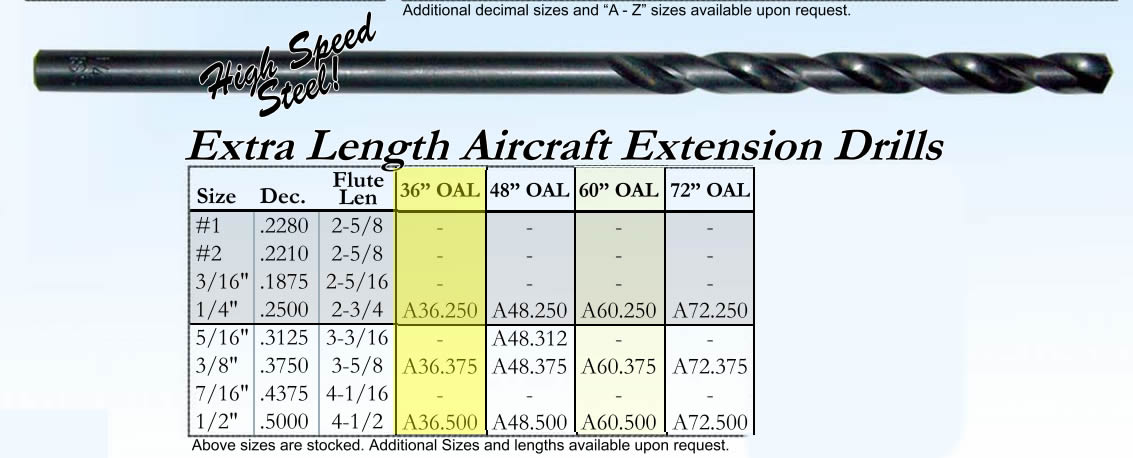 """Cleveland Twist Drill C05585 #30 Aircraft Extension Drill 6/"""" Overall Length"""